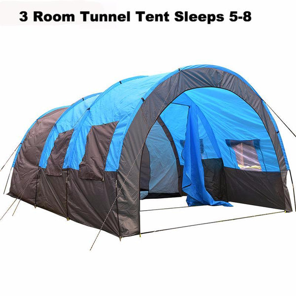 Double Layer Tunnel Tent sleeps 5-10 People for C&ing Hiking Fishing  sc 1 st  Twin Falls Gear & Large Tents u2013 Twin Falls Gear