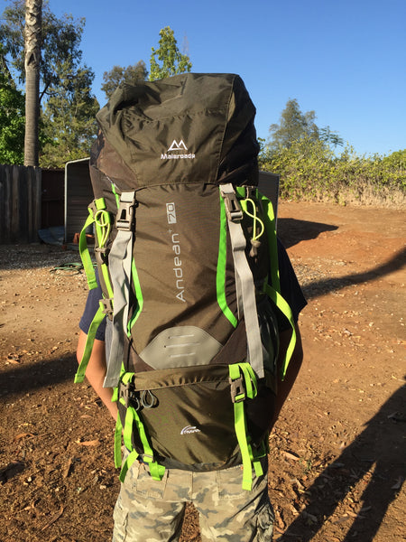 Large 70L  Pro Backpack with All the features of Osprey and Gregory for LESS