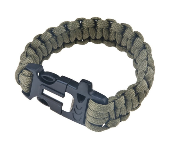 FREE PLUS SHIPPING> Survival Paracord Bracelet with Emergency Rope, Whistle, Flint Fire Starter, Scraper. LIMIT 2