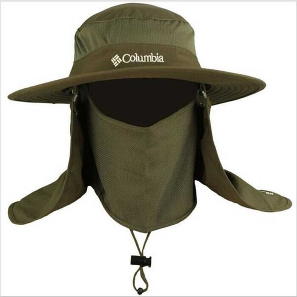 Wide brim, waterproof, UV protection, Columbia Hat with Neck and Face Curtain