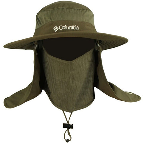 Wide brim, waterproof, UV protection Columbia hat with Neck and Face Curtain