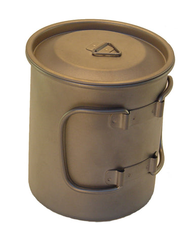 Titanium Mug 750 ML with folding handles and Lid