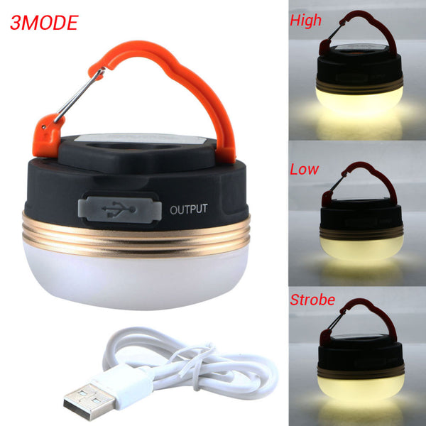 FREE 3W LED Mini Portable Waterproof Camping Lantern with Tent and Solar Panel Purchases, USB Rechargeable