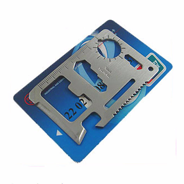 11 in 1 Multifunction Credit Card Tool for Outdoor Hunting, Survival, Hiking, Camping, Backpacking