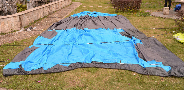 Double Layer Tunnel Tent sleeps 5-10 People for Camping, Hiking,  Fishing