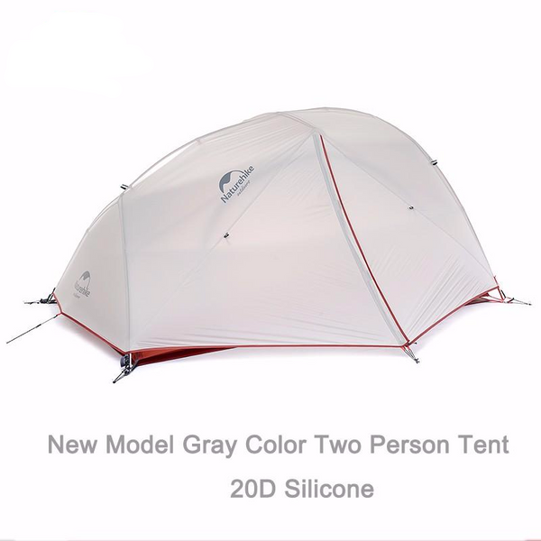 2 Person 4 Season Waterproof 20D Silnylon 2-layer Tent for Camping, Backpacking, Treks with Bikes and Canoes