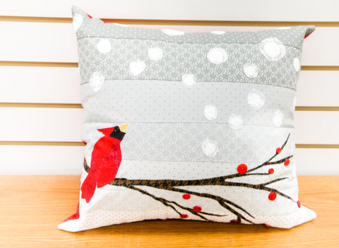 Snowfall Christmas Pillow Pattern