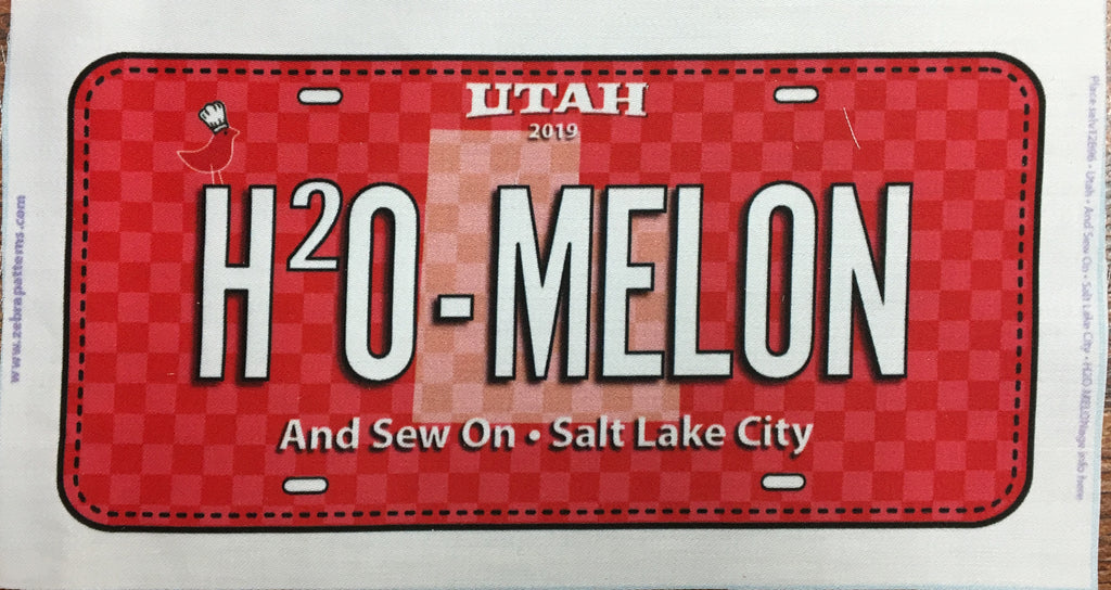 Taste the Experience License Plate Millcreek - Row by Row 2019