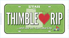 Row by Row Millcreek License Plate