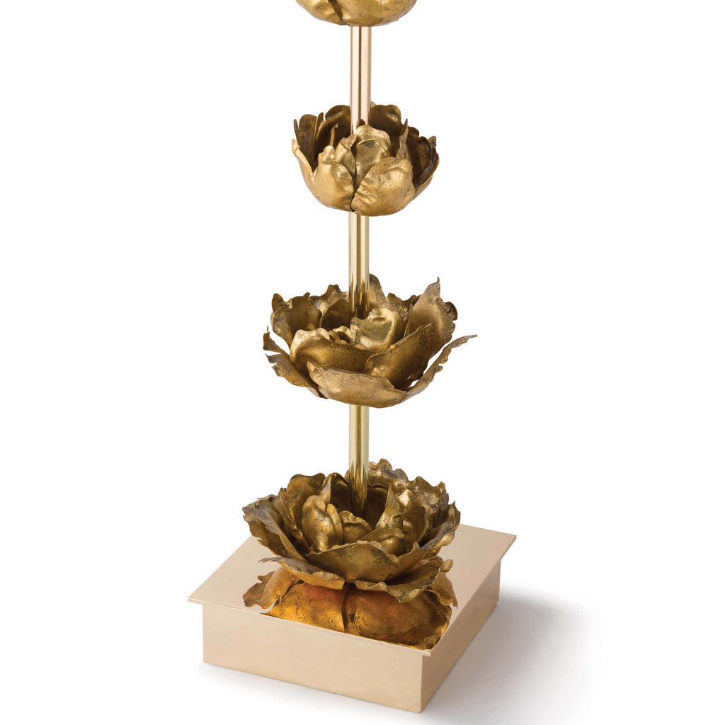 Gold Flowers Table Lamp