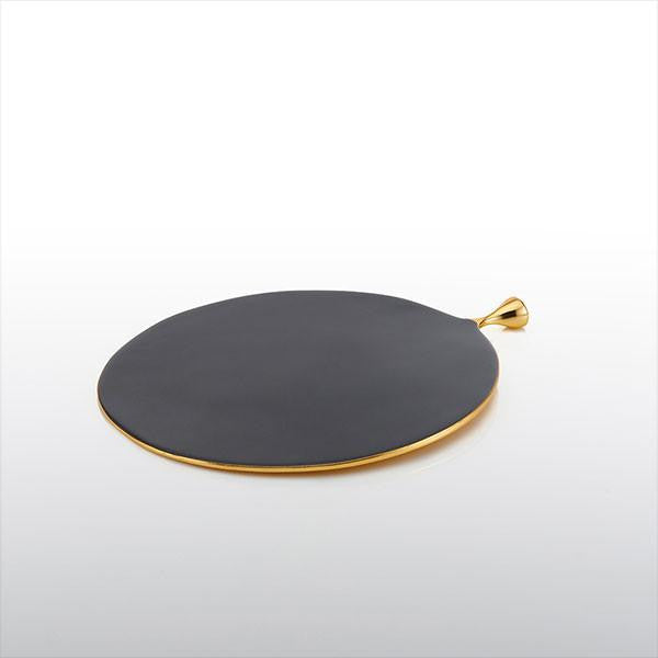 Round Pod Cheese Paddle Graphite