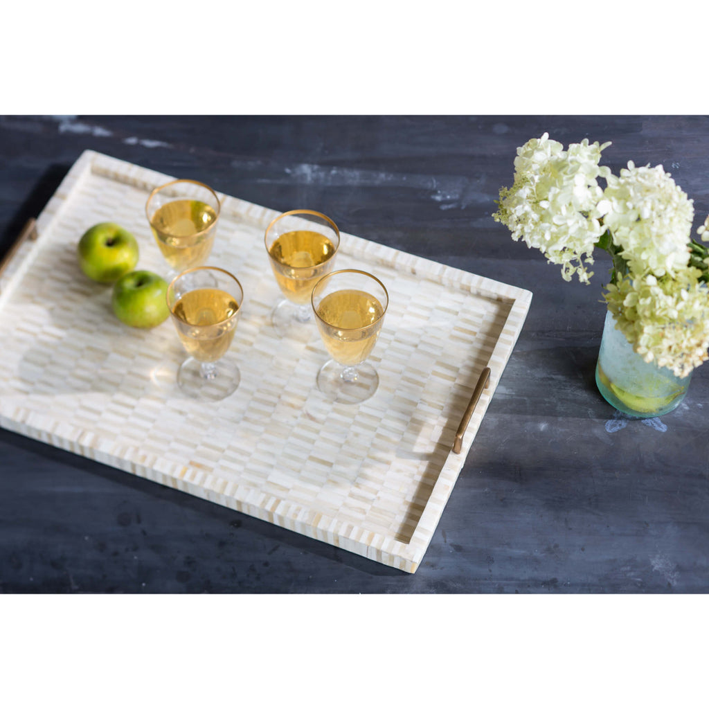 Multi-Tonal Bone and Brass Tray