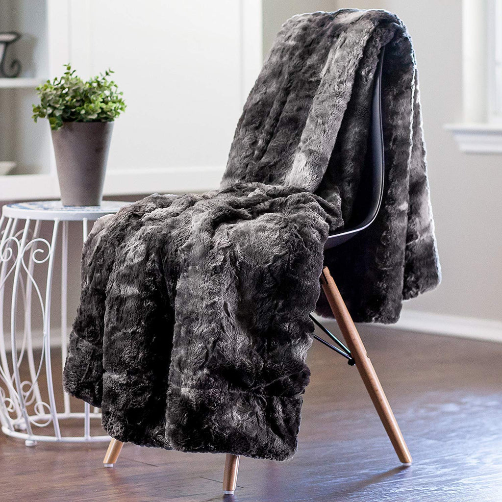 Couture Oversized Throw- Birch/Black