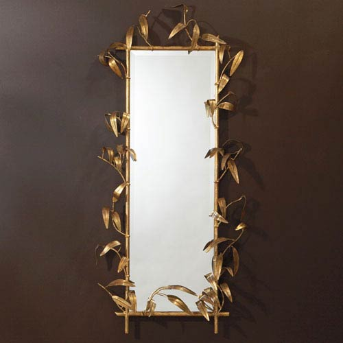Bamboo Mirror- Gold Leaf