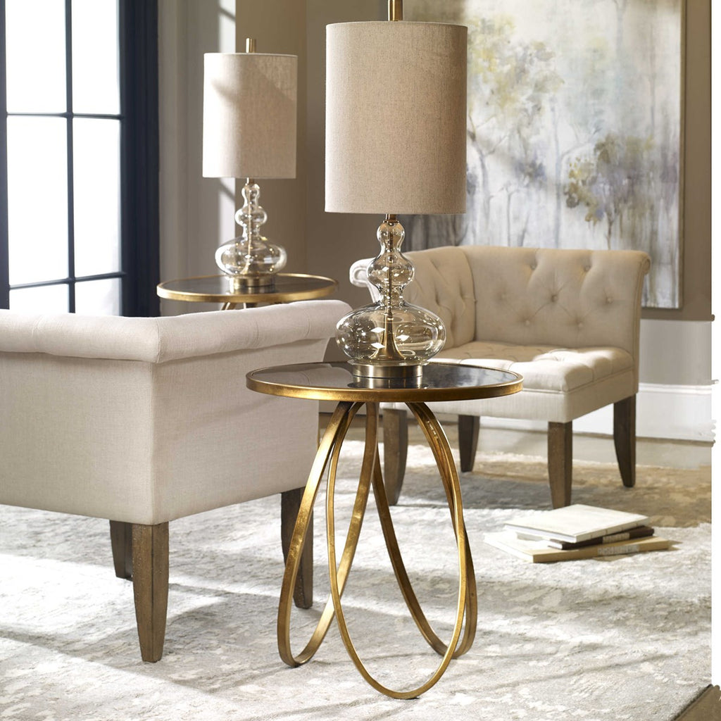 Montrez Gold Accent Table