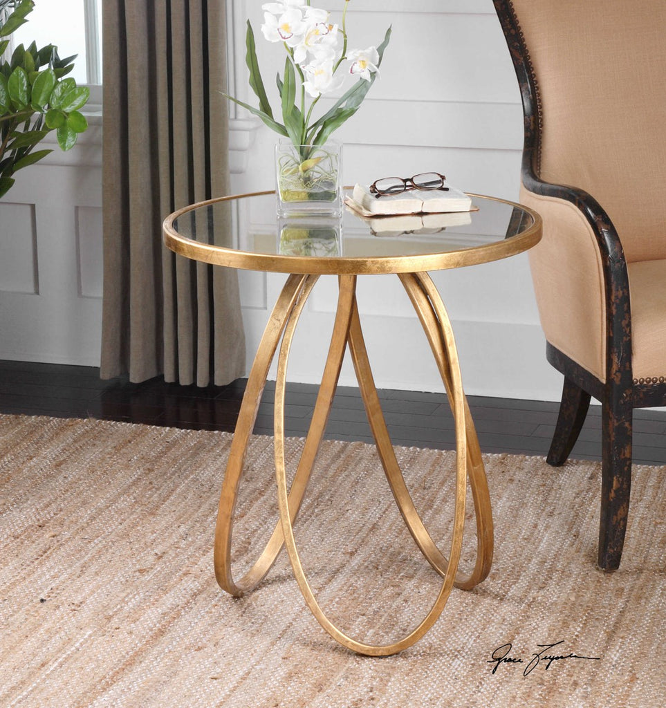 Monaco Gold Accent Table