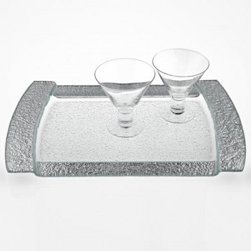 Large Glass Rectangular Tray