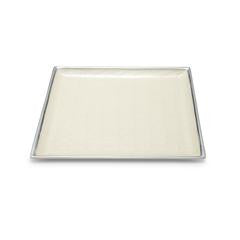 Classic Square Beveled Tray in Snow