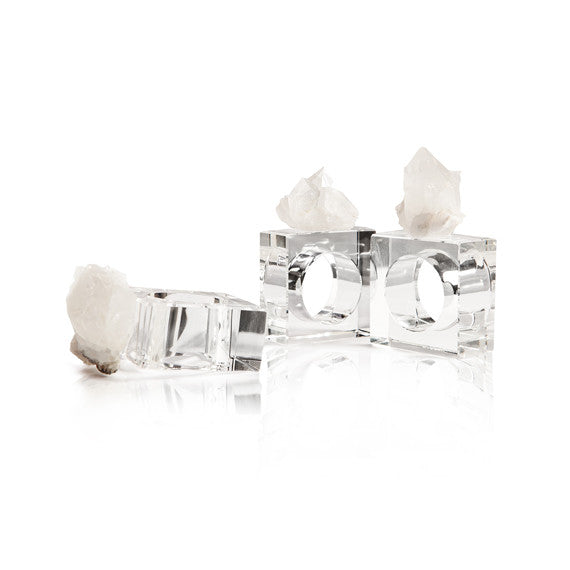 Crystal Napkin Rings - Quartz by Casa Chic