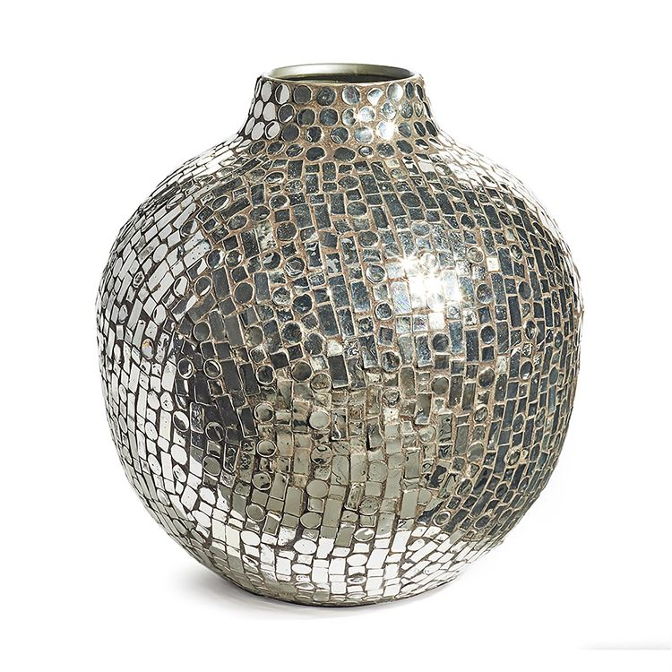 Sevilla Low Mosaic Mirrored Vase
