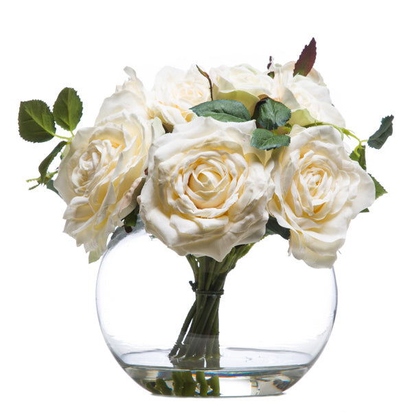 English White Rose Bouquet