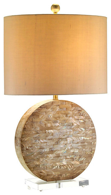 Tessellated Mother of Pearl Table Lamp