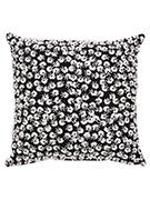 Kate Spade Black and White Flower Sequin Pillow