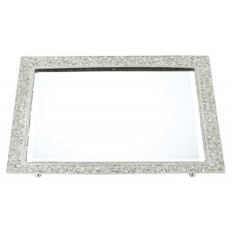 Windsor Silver Mirror Tray