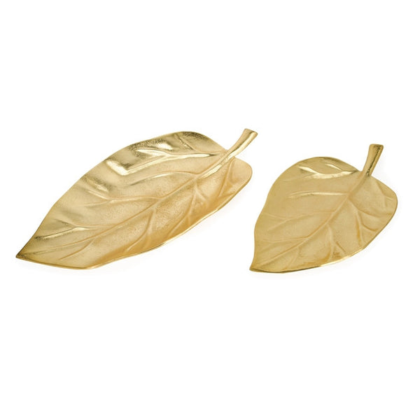 Gold Foliage Trays by Casa Chic