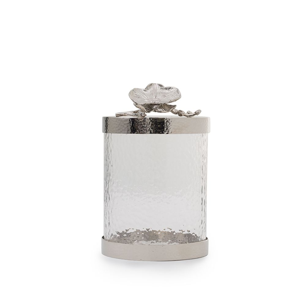 White Orchid Canister Small
