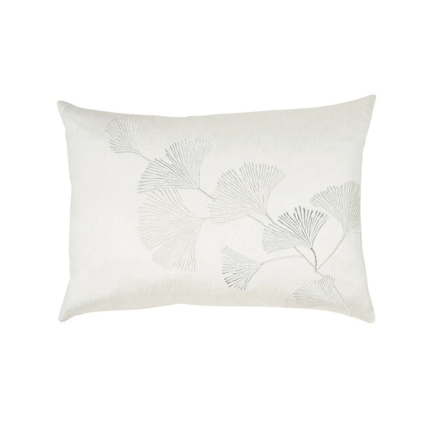 Gingko Leaf Embroidered Pillow