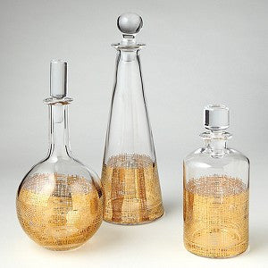 Crosshatch Decanter Set