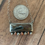 Snake hill jasper bar necklace