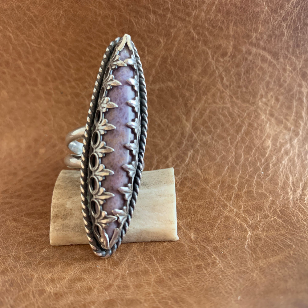 Lovely Burro Creek Agate Sterling Silver Ring