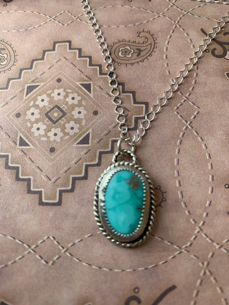Stormy Mountain Turquoise Sterling Silver Necklace