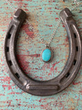 Tyrone Turquoise Sterling Silver Necklace