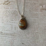 Beautiful #8 Turquoise Sterling Silver Necklace