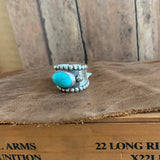 Size 8 Sterling Silver Wide Band Ring
