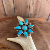 Turquoise Cluster Ring Size 8