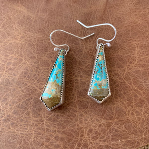 #8 Turquoise Sterling Silver earrings