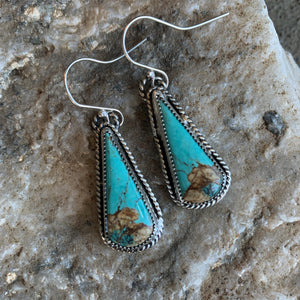 Baja Turquoise Sterling Silver hooked earring