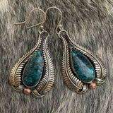 Hubei Turquoise Sterling Silver hooked earring