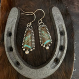 #8 Turquoise Sterling Silver hooked earring