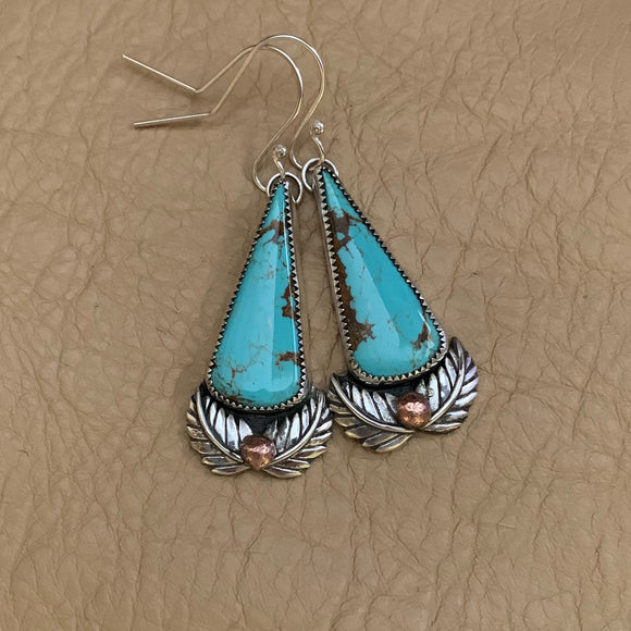 Baja Turquoise hooked earrings