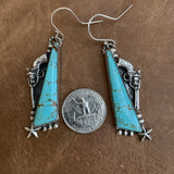 Cowboy inspired hooked earrings