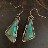 Baja Turquoise with an arrow hooked earrings