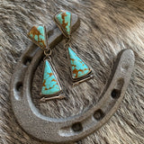 Baja Turquoise Sterling Silver post earring