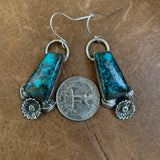 Cloud mountain Turquoise hooked earrings