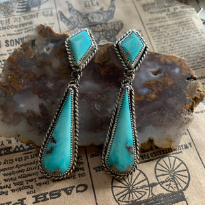 Kingman Turquoise Sterling Silver post earring