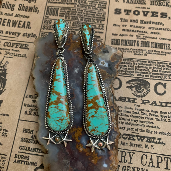 Royston Turquoise Sterling Silver post earring